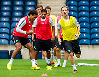 05/08/14  <br /> CELTIC TRAINING <br /> BT MURRAYFIELD STADIUM - EDINBURGH<br /> Celtic's Stefan Johansen is put through his paces at training