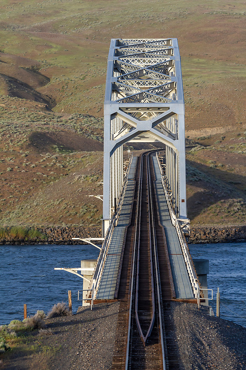 Railroad bridge crossing the Snake River in Washington State Palouse Country.  Licensing and Open Edition Prints.