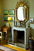 The elegant traditional drawing room at The Quay House Hotel, Clifden, County Galway, Ireland