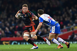 27th April 2019 , Principality Stadium , Cardiff, Wales ; Guinness pro 14's, Round 21, Dragons vs Scarlets ; Lewis Evans of Dragons in action<br /> <br /> Credit :  Craig Thomas/Replay Images