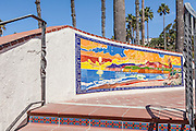 San Clemente Sunset Mural Downtown at the Pier