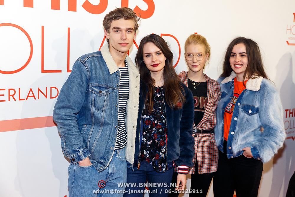 NLD/Amsterdam/20180201 - Presentatie This is Holland, ..............., Julia Nauta, Sarah Nauta en Imke van Leeuwen