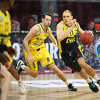 #21 Robin Amazie von Baskets Oldenburg , #8 Marcus Eriksson von Alba Berlin    <br /> Basketball, nph0001 1.Bundesliga BBL-Finalturnier 2020.<br /> Halbfinale Spiel 2 am 24.06.2020.<br /> <br /> Alba Berlin vs EWE Baskets Oldenburg <br /> Audi Dome<br /> <br /> Foto: Christina Pahnke / sampics  / POOL / nordphoto<br /> <br /> National and international News-Agencies OUT - Editorial Use ONLY