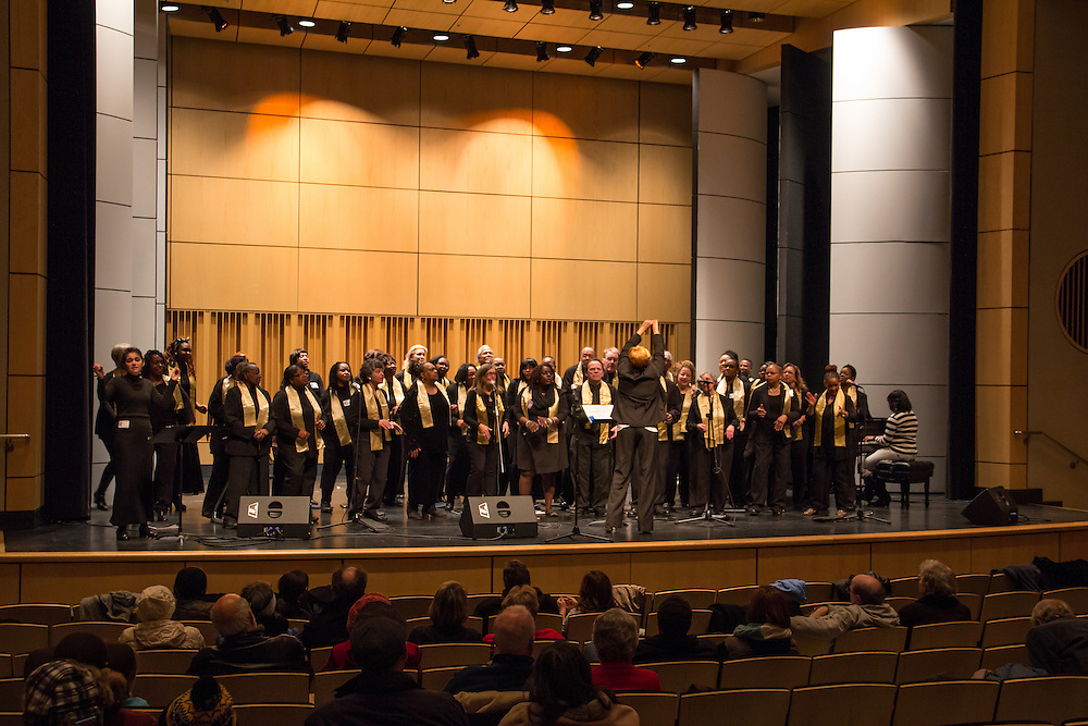 Akron Symphony Gospel Choir performs at First Night Akron 2015