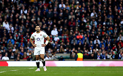 Ben Te'o of England looks focused ahead off his first start for England - Mandatory by-line: Robbie Stephenson/JMP - 26/02/2017 - RUGBY - Twickenham Stadium - London, England - England v Italy - RBS 6 Nations round three