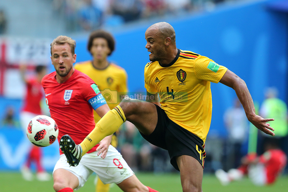 July 14, 2018 - St. Petersburg, Russia - July 14, 2018, St. Petersburg, FIFA World Cup 2018, Football match for the third place in the World Cup. Football match of Belgium - England at the stadium of St. Petersburg. Player of the national team Vincent Company  (Credit Image: © Russian Look via ZUMA Wire)