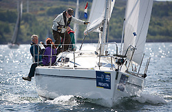 Pelle P Kip Regatta 2019 Day 1<br /> <br /> Light and bright conditions for the opening racing on the Clyde keelboat season<br /> <br /> GBR9296C, Celerity, Gavin Marshall, Royal Western Yc, Elan 31