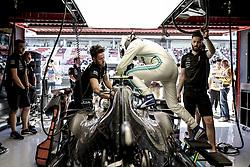 May 10, 2019 - Barcelona, Spain - #77 Valtteri Bottas (FIN, Mercedes AMG Petronas Motorsport) enters cockpit FIA Formula One World Championship 2019, Grand Prix of Spain. (Credit Image: © Hoch Zwei via ZUMA Wire)