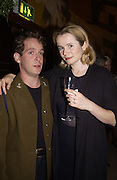 Tom Hollander and Emily Watson. Uncle Vanya, Donmar Warehouse and afterwards at 1 Aldwych. 30 September 2002. © Copyright Photograph by Dafydd Jones 66 Stockwell Park Rd. London SW9 0DA Tel 020 7733 0108 www.dafjones.com