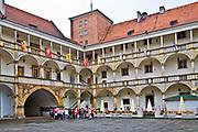 Zamek Piastów Śląskich - dziedziniec, Brzeg, Polska<br /> Silesian Piast residence - courtyard, Brzeg, Poland