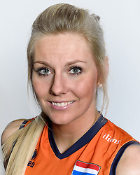 28-12-2015 NED: Nederlands Volleybalteam vrouwen, Arnhem<br /> Nederlands volleybalteam vrouwen op de foto met de nieuwe sponsorshirt ilionx / Laura Dijkema #14