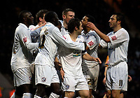 Photo: Jed Wee/Sportsbeat Images.<br /> Bradford City v Hereford United. Coca Cola League 2. 29/12/2007.<br /> <br /> Hereford celebrate after their opening goal.
