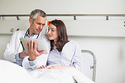 Doctor discussing treatment with patient