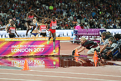 London, August 11 2017 . Ruth Jebet, Bahrain, leads the early stages of the women's 3000m steeplechase final on day eight of the IAAF London 2017 world Championships at the London Stadium. © Paul Davey.