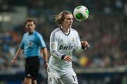 Luka Modric controls the ball