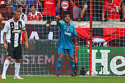 July 28, 2018 - Harrison, NJ, U.S. - HARRISON, NJ - JULY 28:  Juventus goalkeeper Mattia Perin (19) during the second half of the International Champions Cup game between Juventus and Benfica on July 28, 2018 at Red Bull Arena in Harrison, NJ.(Photo by Rich Graessle/Icon Sportswire) (Credit Image: © Rich Graessle/Icon SMI via ZUMA Press)