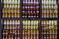 France, Côte-d'Or (21), Dijon, zone classée Patrimoine Mondial de l'UNESCO, boutique de moutarde, boutique-atelier Fallot // France, Côte d'Or, Dijon, Fallot mustard shop