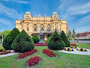 Krakow 2019-07-20. Teatr im. Juliusza Słowackiego zaliczany jest do najcenniejszych zabytków architektury teatralnej w Europie.