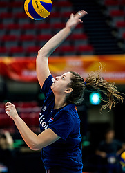 06-10-2018 JPN: World Championship Volleyball Women day 7, Nagoya<br /> Press conference coaches group Nagoya after training day for Netherlands and Brazil / Juliet Lohuis #7 of Netherlands