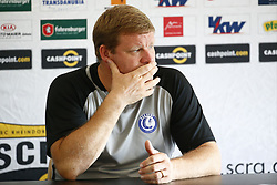 August 2, 2017 - Innsbruck, Autriche - INNSBRUCK , AUSTRIA - AUGUST 02 :   Hein Vanhaezebrouck Headcoach of KAA Gent and Nana Asare Akwasi defender of KAA Gent pictured during the press conference and training of Kaa Gent the day before the second leg of the third qualifying round for the UEFA Europa League competition match between Sc Rheindorf Altach and Kaa Gent on August 02, 2017 in Innsbruck, Austria 02/08/201 (Credit Image: © Panoramic via ZUMA Press)