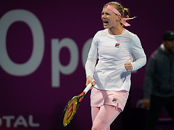 February 12, 2019 - Doha, QATAR - Kiki Bertens of the Netherlands in action during the first round at the 2019 Qatar Total Open WTA Premier tennis tournament (Credit Image: © AFP7 via ZUMA Wire)