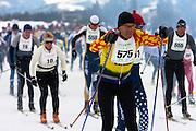 Yellowstone Rendezvous Ski Race. West Yellowstone, Montana.