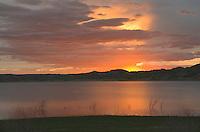 Sunrise over Missouri River (Lake Fort Peck) Hell Creek Montana