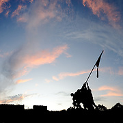 Iwo Jima Memorial, Arlington, Virginia, in the evening