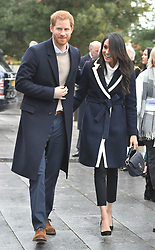 Prince Harry and Meghan Markle on a walkabout during a visit to Millennium Point in Birmingham, as part of the latest leg in the regional tours the couple are undertaking in the run-up to their May wedding.