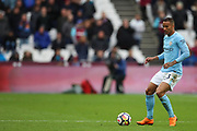 Manchester City defender Danilo (3) and West Ham United midfielder Joao Mario (18) during the Premier League match between West Ham United and Manchester City at the London Stadium, London, England on 29 April 2018. Picture by Toyin Oshodi.