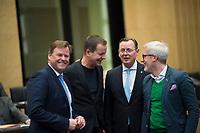 DEU, Deutschland, Germany, Berlin, 10.02.2017: Die Linken-Politiker Christian Görke, Klaus Lederer, Bodo Ramelow, Benjamin Immanuel Hoff vor einer Sitzung im Bundesrat.