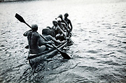 full boat during summer vacationing 1920s 1930s