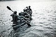 full boat during summer vacationing 1920s 1930s