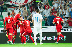 Players of England celebrate after scoring first goal during the EURO 2016 Qualifier Group E match between Slovenia and England at SRC Stozice on June 14, 2015 in Ljubljana, Slovenia. Photo by Vid Ponikvar / Sportida