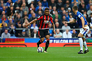 Jordon Ibe of Bournemouth looks to go past Morgan Schneiderlin of Everton . Premier league match, Everton vs Bournemouth at Goodison Park in Liverpool, Merseyside on Saturday 23rd September 2017.<br /> pic by Chris Stading, Andrew Orchard sports photography.