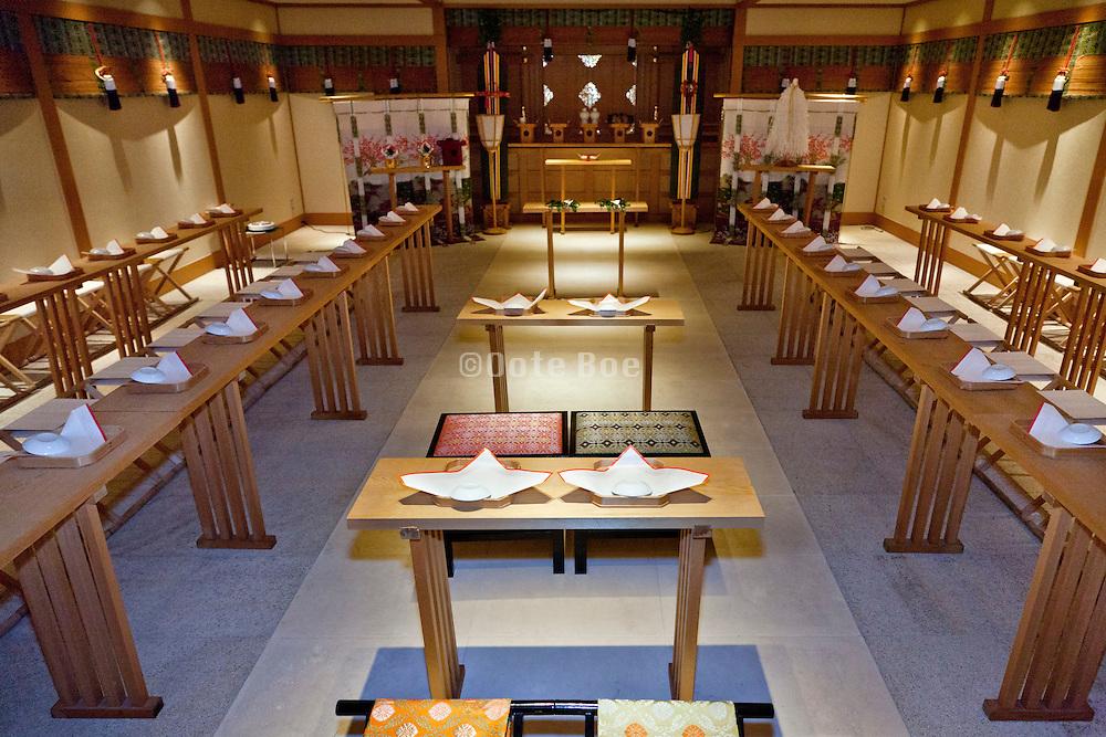traditional Japanese wedding chapel at Hotel Yokohama Garden