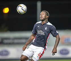 Falkirk's Ollie Durojaiye.<br /> Falkirk beat Cowdenbeath in a penalty shoot-out, second round League Cup tie played at The Falkirk Stadium.
