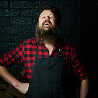 Chef Aaron Turner at his restaurant, Igni, in Geelong, VIC.