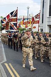 Freedom Parade 3rd Battalion The Yorkshire Regiment Sheffield 23 June 2010 .Images © Paul David Drabble.