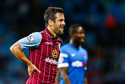 Joe Cole of Aston Villa looks out of breath - Photo mandatory by-line: Rogan Thomson/JMP - 07966 386802 - 27/08/2014 - SPORT - FOOTBALL - Villa Park, Birmingham - Aston Villa v Leyton Orient - Capital One Cup Round 2.