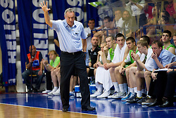 Zmago Sagadin, head coach of Slovenia during basketball match between National teams of Latvia and Slovenia in Qualifying Round of U20 Men European Championship Slovenia 2012, on July 16, 2012 in Domzale, Slovenia. Slovenia defeated Latvia 69-62. (Photo by Vid Ponikvar / Sportida.com)