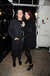STEPHEN & ANASTASIA WEBSTER at a Halloween party hosted by Alexa Chung and Browns Focus held at the House of St.Barnabas, 1 Greek Street, London on 31st October 2008.