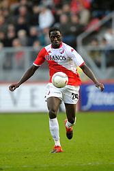 08-11-2009 VOETBAL: FC UTRECHT - HEERENVEEN: UTRECHT<br /> Utrecht verliest met 3-2 van Heerenveen / Jacob Mulenga<br /> ©2009-WWW.FOTOHOOGENDOORN.NL