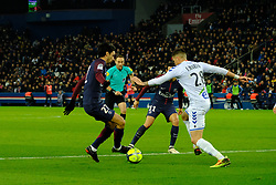 February 17, 2018 - Paris, France - Paris SG Midfield JAVIER PASTORE in action during the League 1 French championship match Paris SG against Strasbourg RC at the Parc des Princes Stadium in Paris - France..Paris SG won 5-2 (Credit Image: © Pierre Stevenin via ZUMA Wire)