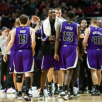 21 December 2009: Sacramento Kings bench celebrates during the Sacramento Kings 102-98 victory over the Chicago Bulls at the United Center, in Chicago, Illinois, USA.