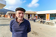 Kamo Avetyan started renovating his petrol station facilities at the entry of Stepanakert, the self-proclaimed Nagorno-Karabakh Republic on Tuesday, Dec 22, 2020. (Photo/ Vudi Xhymshiti)