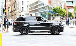 Manchester United'€™s Luke Shaw who has been driving for less than a year is spotted driving his £100,000 Range Rover Sport SVR through Manchester city centre on Monday afternoon.