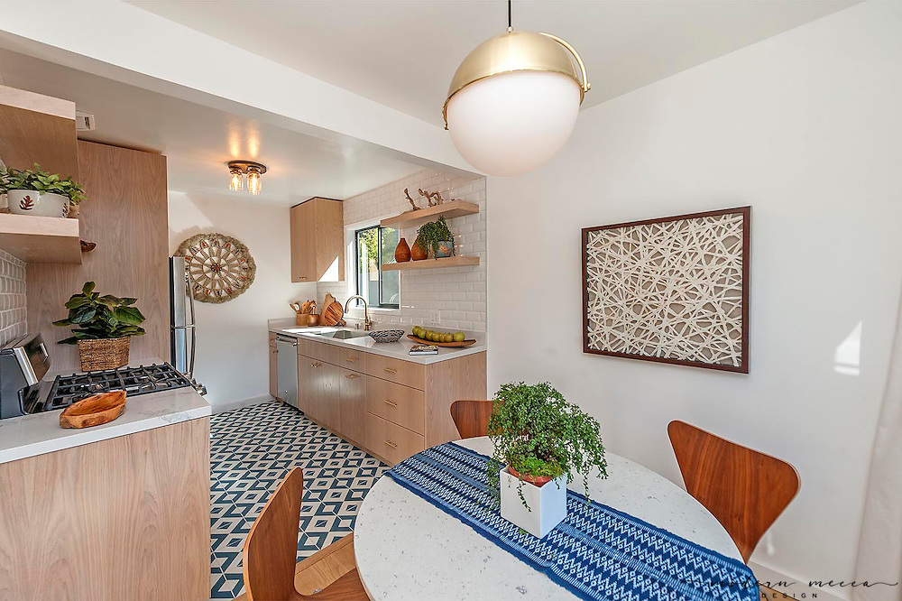 Modern Mecca was asked to stage this cute and completely updated rental unit at a Mid-Century Apartment building in Hollywood Hills. The unit was rented within a week.