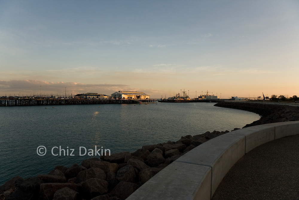Stokes Hill wharf, Darwin at sunset. One of the locations used for the 2008 Australia movie by Baz Luhrmann.