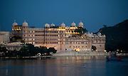 The City Palace across Lake Pichhola Udaipur